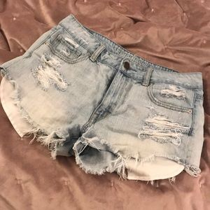 AE Distressed Jean Shorts